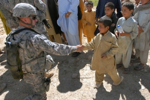 Soldier Shaking Hands